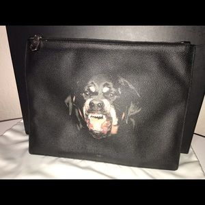 Authentic Givenchy Rottweiler clutch pouch bagette